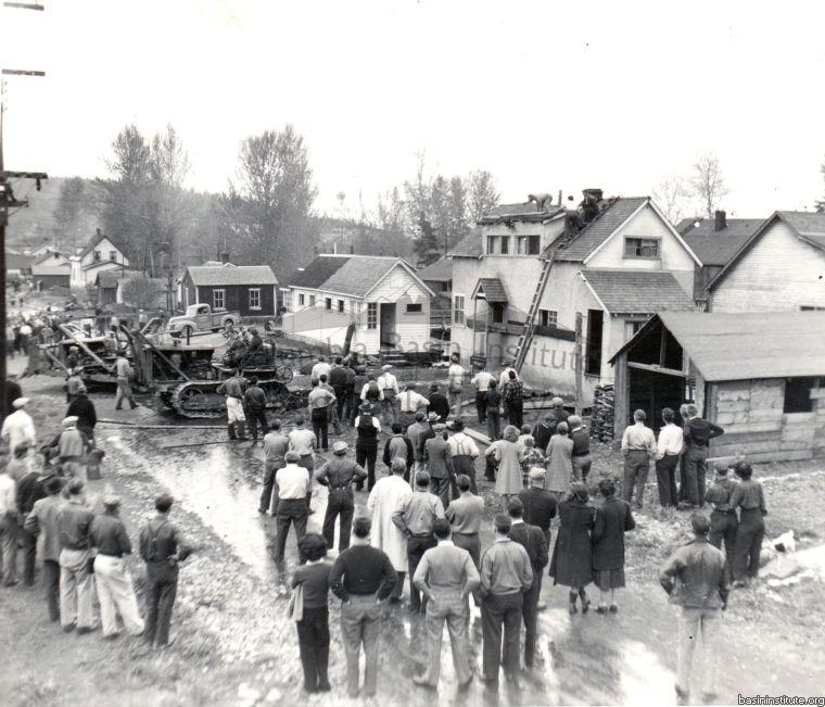 Aftermath of Mark Creek Flood 1948 Kimberley, B.C.
