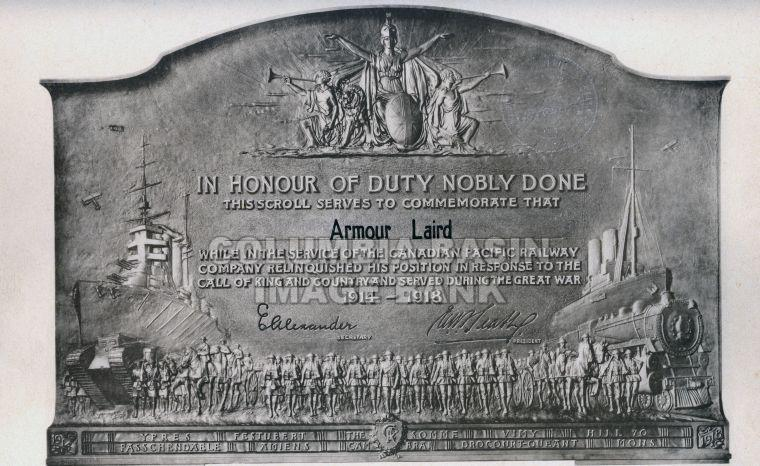 C.P.R. Commemoration to Armour Laird