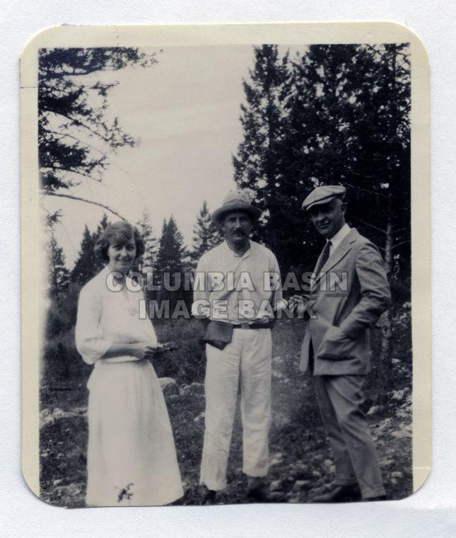 Lillian Green, Guthrie and Dr. F.W. Green c.1925