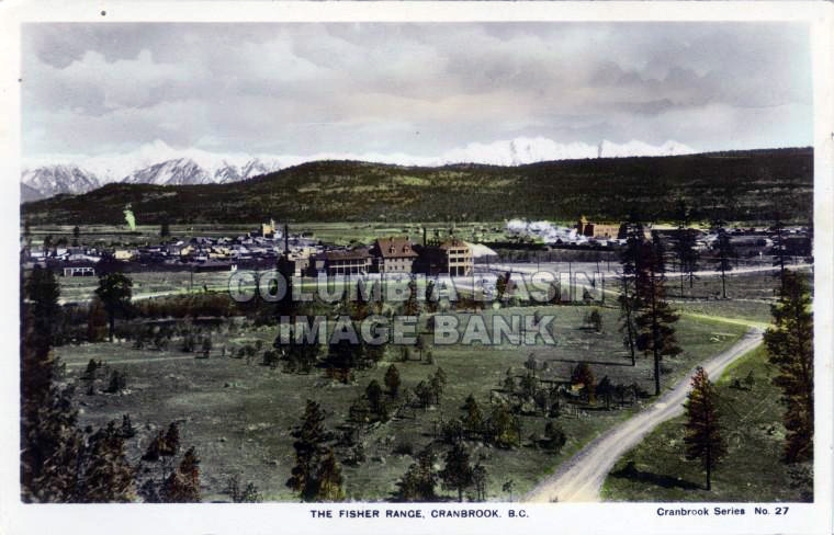 The Fisher Range, Cranbrook, BC with St. Eugene Hospital