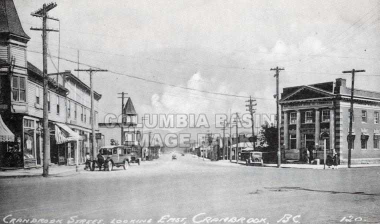 Cranbrook, B.C.   Cranbrook Street, looking east; Ca. 1935-REFERRENCE WITH 0419.0001