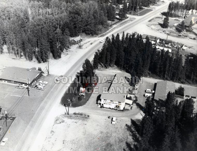 Aerial view of Yellowhead Motel and Immediate Area