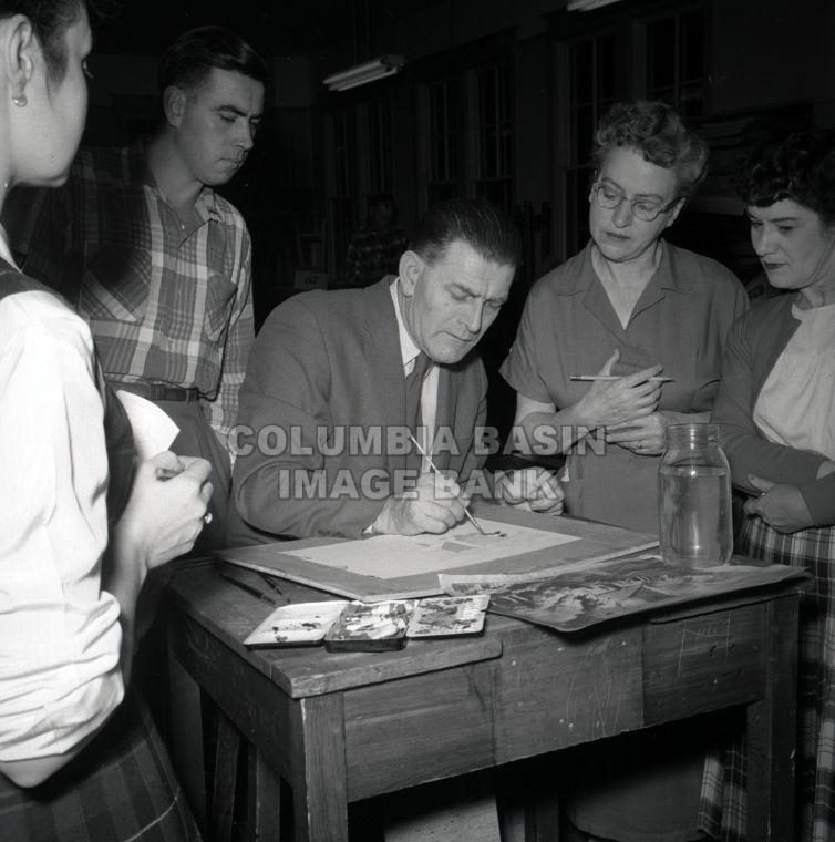 Night School Kimberley, BC 1958