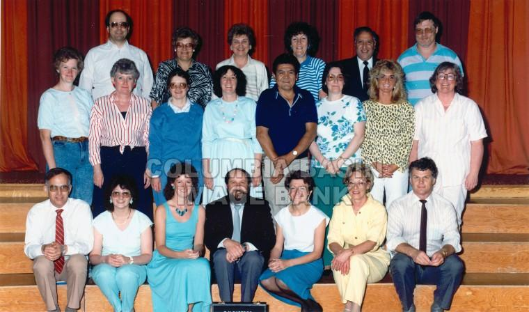 T.M. Roberts Elementary School 1988-1989 Staff Photo