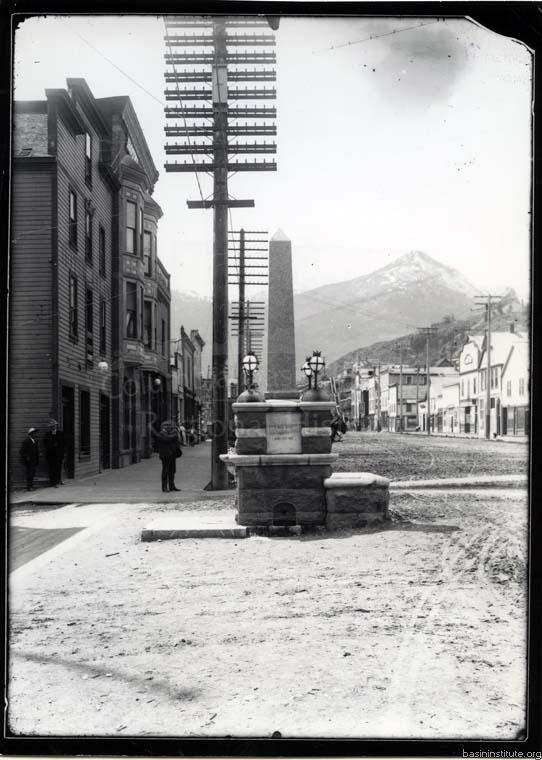 Father Pat Memorial Fountain in Rossland, BC c.1905