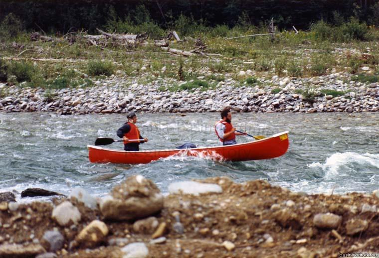 Riding the Bull River c.1988