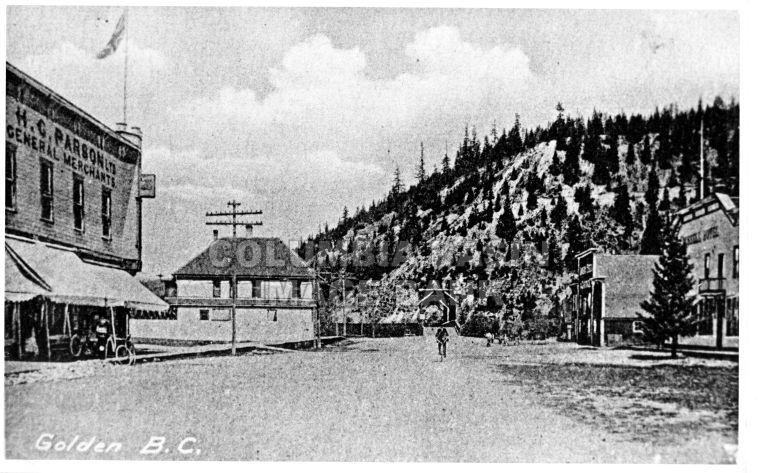 A view of Golden BC c.1900