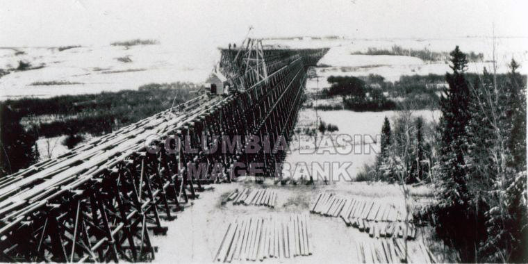 Building Railway Trestle - Valemount Area
