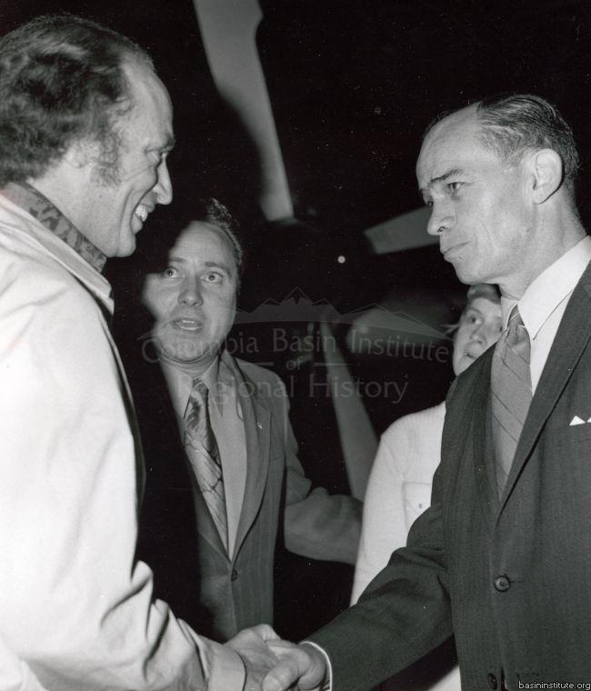 Prime Minister Pierre Trudeau & Bud Buckle July 1971