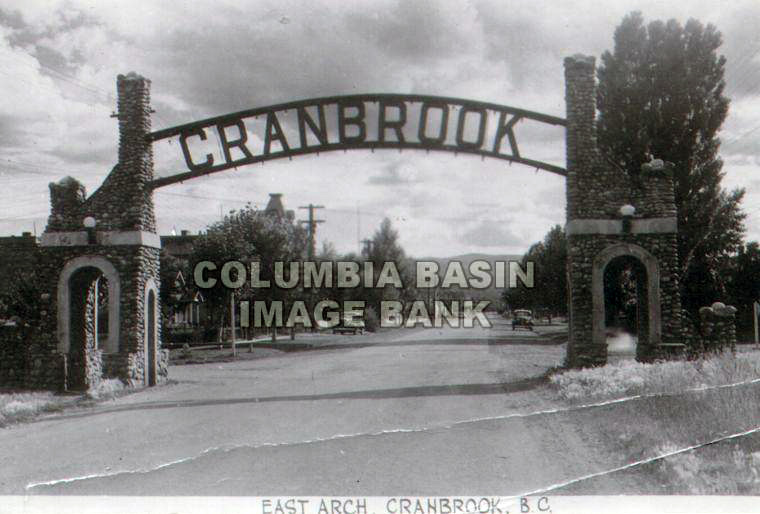 East Entrance Arch to Cranbrook, BC