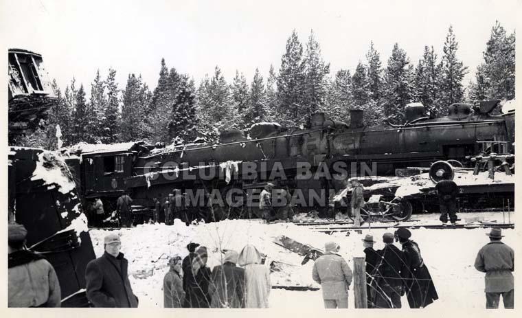 Train Wreck South of Kimberley c.1949