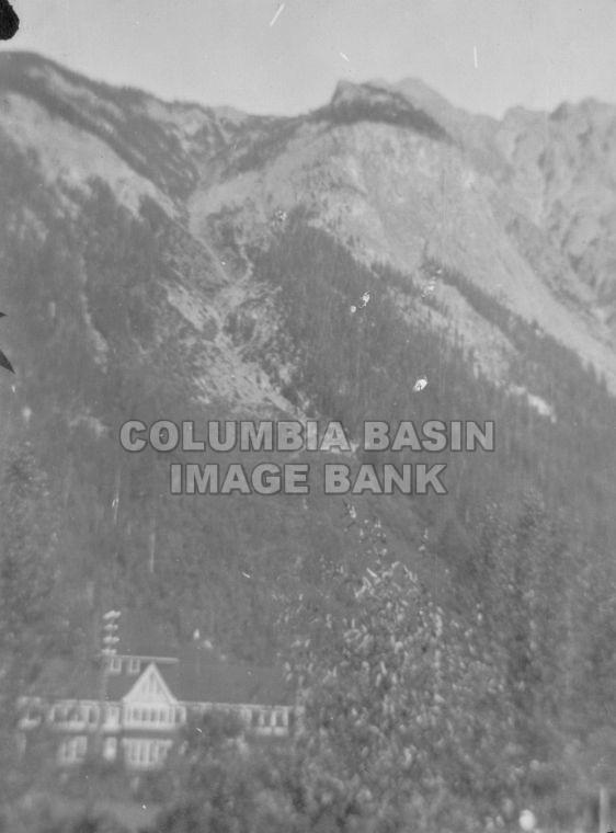 Mount Burgess & Mount Stephen House in Field, BC 1918