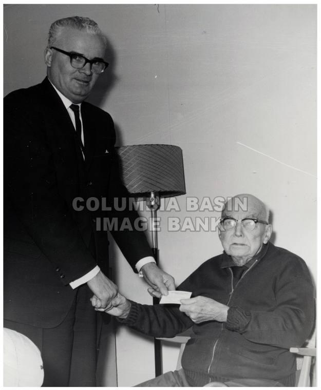 Liberal Candidate Mr. Jim Byrne and A.B. Smith, March 20th 1963