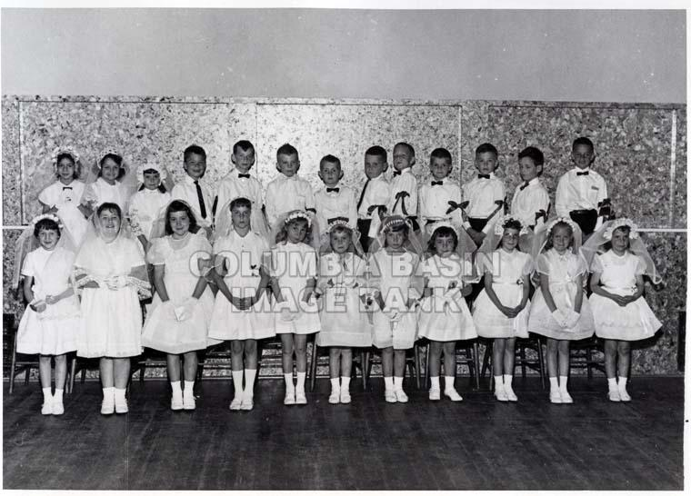 First Communion at Sacred Heart Church in Rossland, BC June 1965.