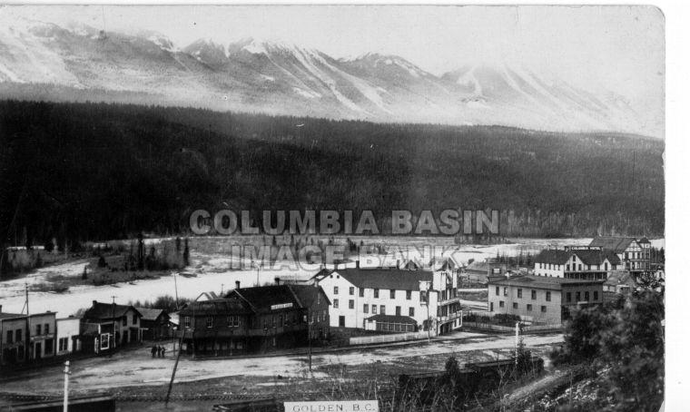 A view of Golden BC 1920