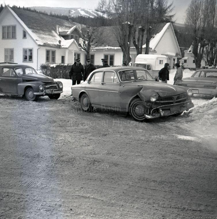 Accident in front of Cominco Office 1967