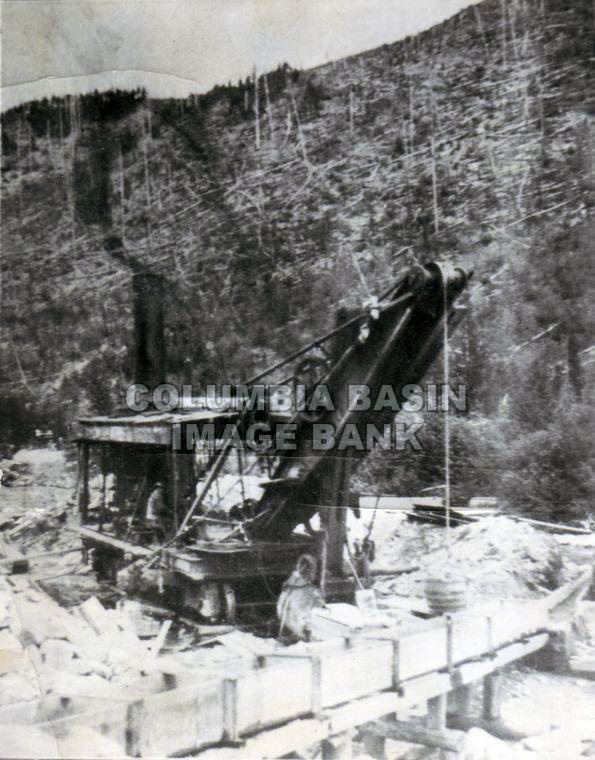 Perry Creek Steam Shovel in Placer Gravels