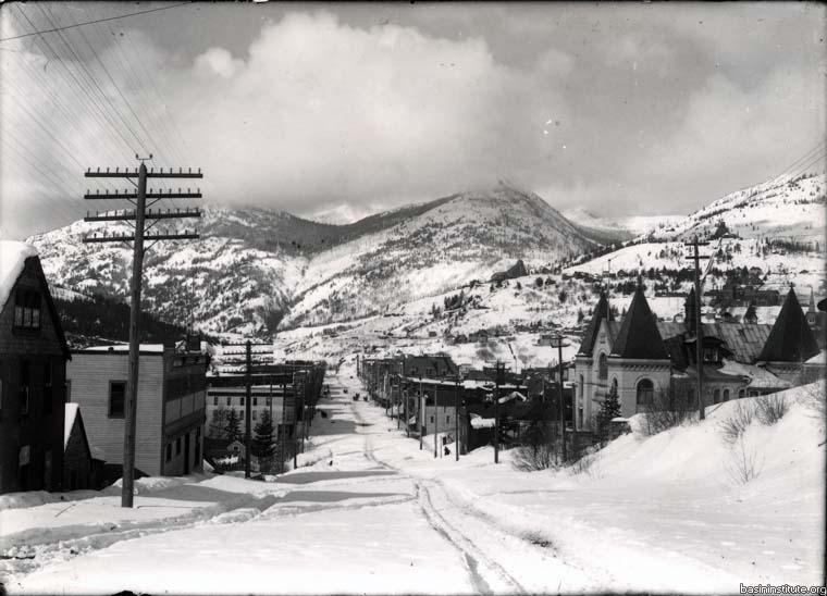 Columbia Avenue in Rossland, BC c.1910
