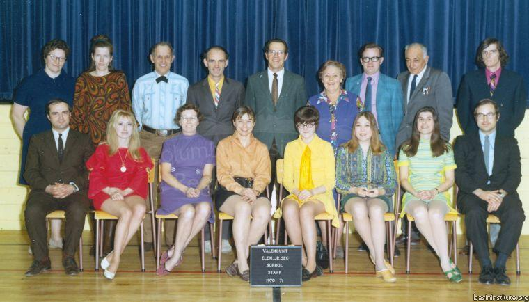 Valemount Elementary/Junior Secondary School Staff 1971