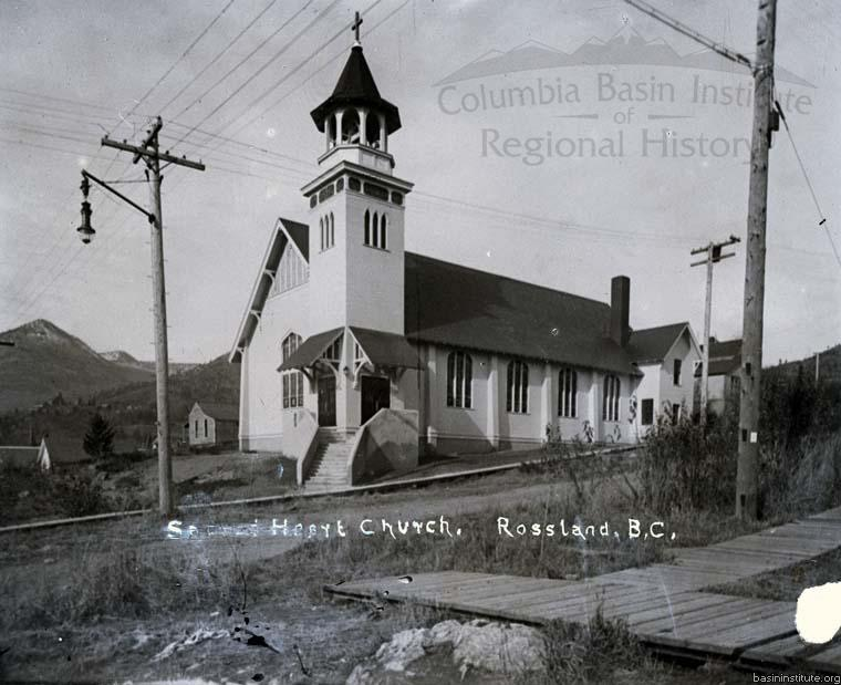 Sacred Heart Church Rossland, BC, c.1905