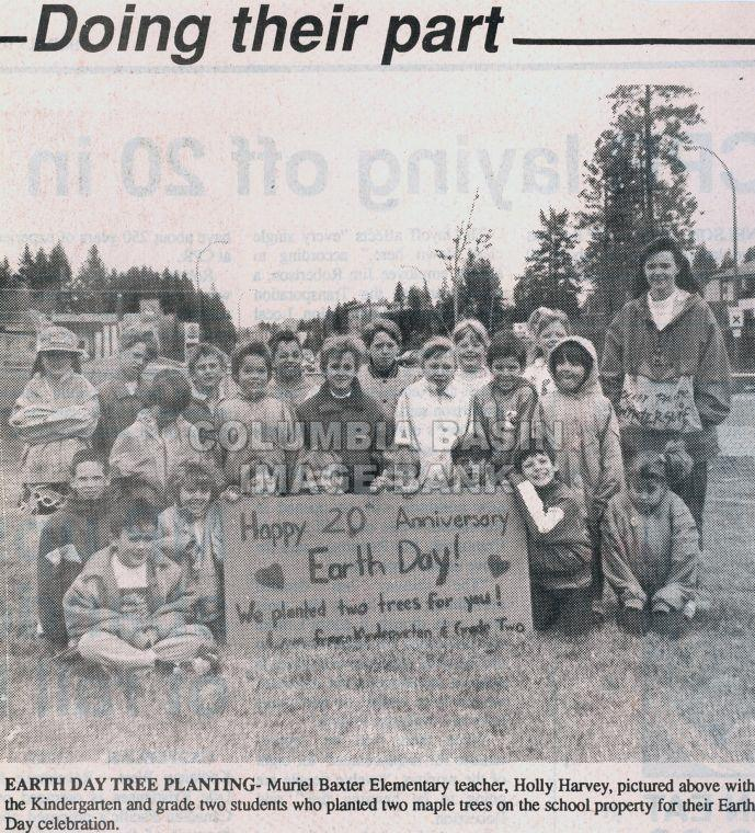 Planting Maples Trees on Earth Day 1990
