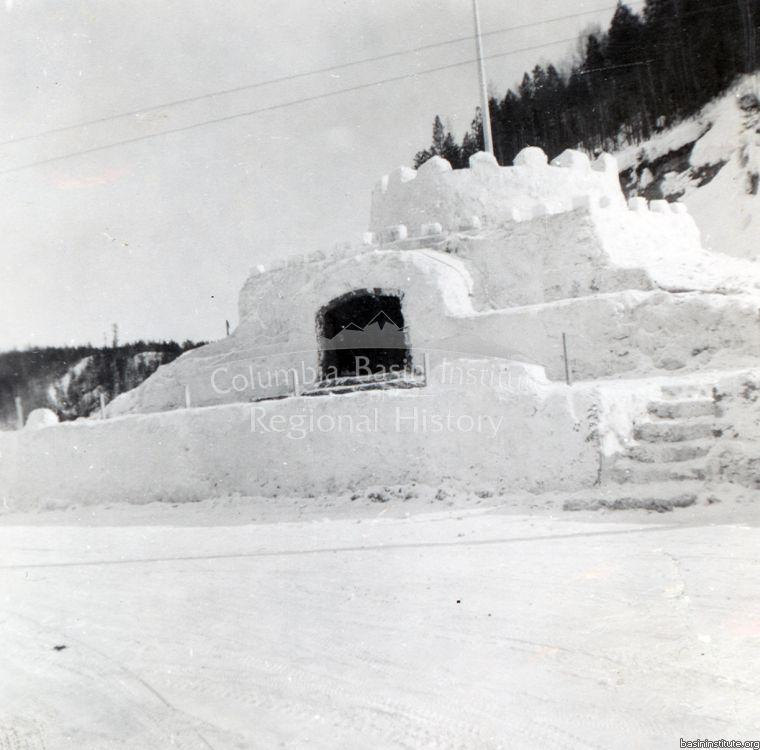 Snow Fiesta Ice Palace in Kimberley, BC 1956