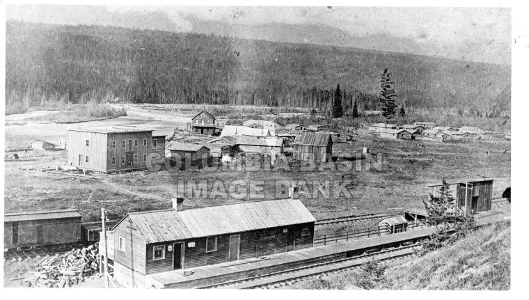 A view of Golden BC 1887