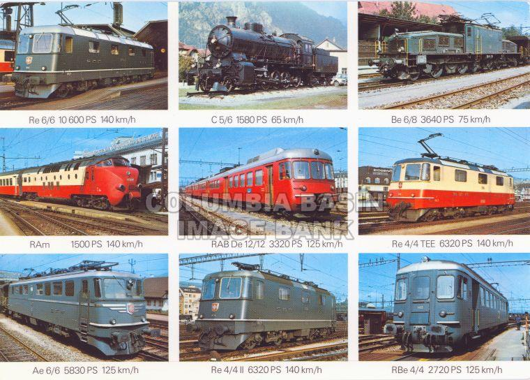 Nine Views of Swiss Locomotives